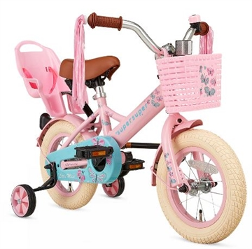 12T pigecykel Little Miss supersuper roze