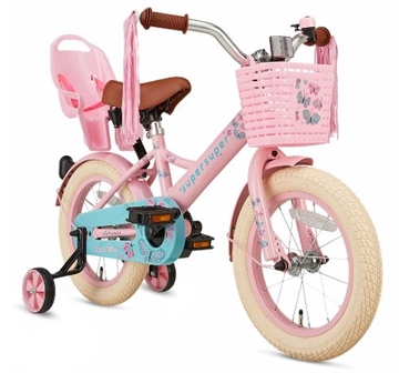 14T pigecykel Little Miss supersuper roze