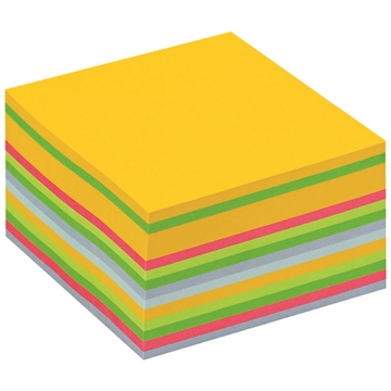 Kubusblok Post-it 76x76mm flerfarvet