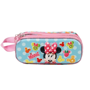 Minnie Mouse Fruits penalhus med 2 rum