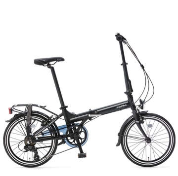 "Popal Foldecykel sort 20 "" 6 gear"