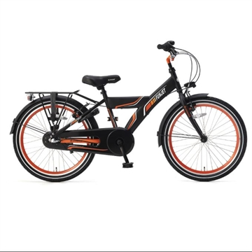 Popal drengecykel Funjet N3 22 T sort orange