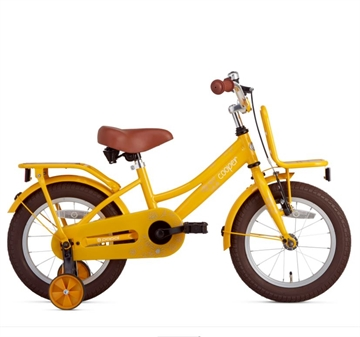 Popal 14 tommer pigecykel Cooper Bamboo gul