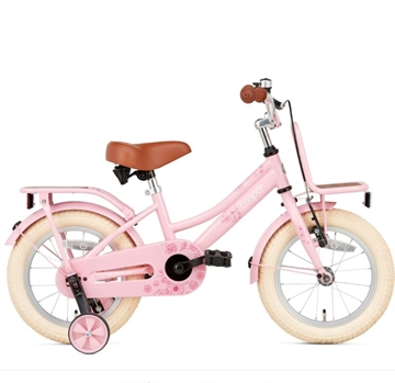 Popal 14 tommer pigecykel Cooper Bamboo roze